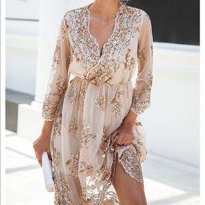 Della Rose Gold Claudia Dress sz 2xl